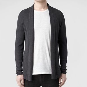 AllSaints Men's Black Rivven Cardigan | M